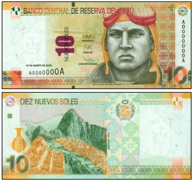 10 nuevo sol banknote