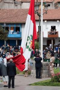 Peru Anthem & Flag Raising