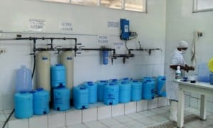 A water bottling plant in Tarapoto, Peru