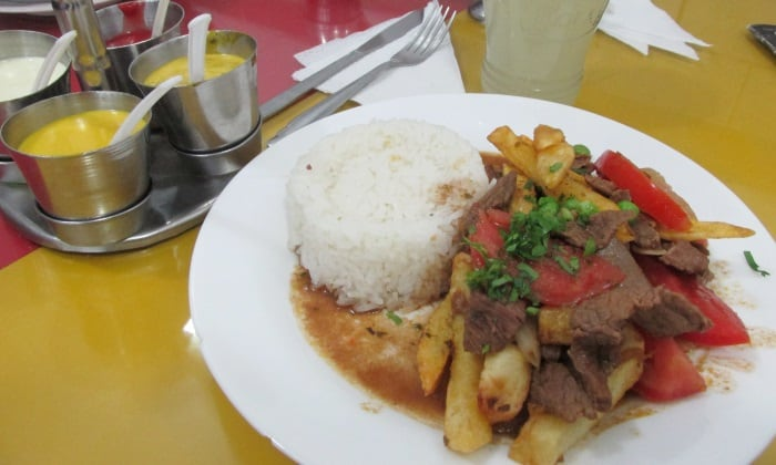Cheap lomo saltado in Cusco