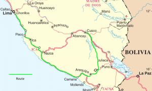 Lima to Cusco by bus via Arequipa