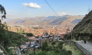 Taking a photo in Cusco