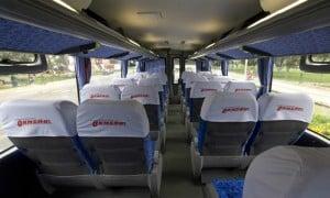 Inside an Ormeño bus in Peru