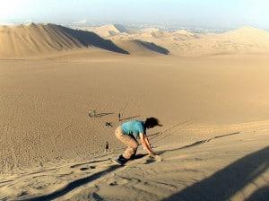 Sandboarding in Peru