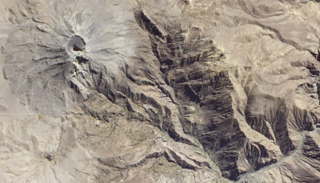 Ubinas Volcano Peru from Space