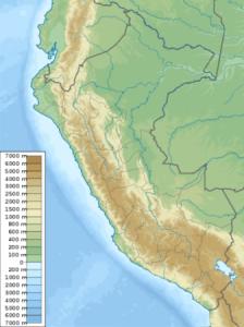 peru altitude map