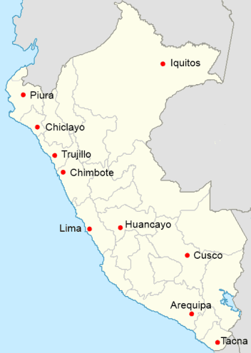 Cities In Peru How To Peru - Cities map of peru