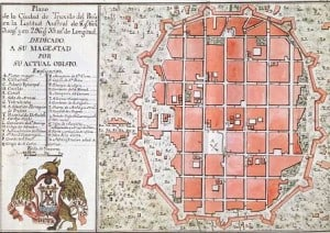 Historic map of Trujillo Peru