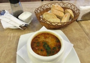 Sublime soup at the Amazon Bistro