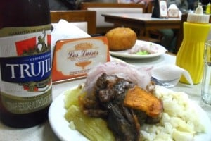 Pork and beer at Los Luises