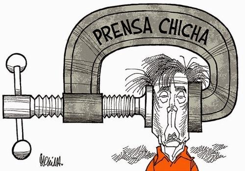 Prensa chicha cartoon