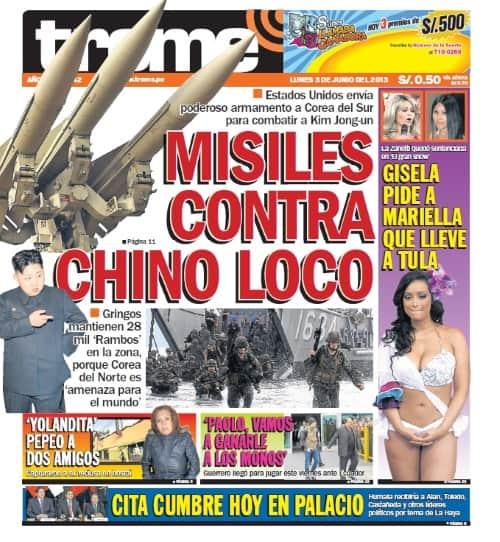 Trome Peru newspaper