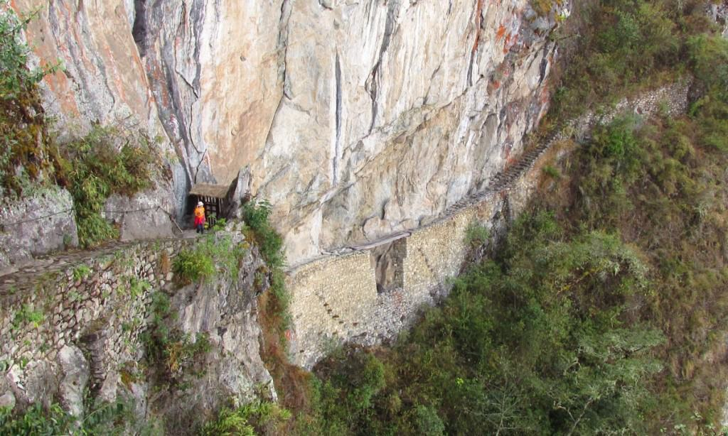Inca Bridge at Machu Picchu