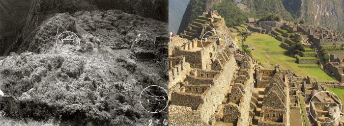 Machu Picchu then and now