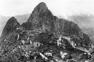 Photo of Machu Picchu after first excavation