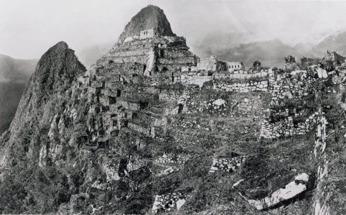 Machu Picchu terraces after clearing and excavation
