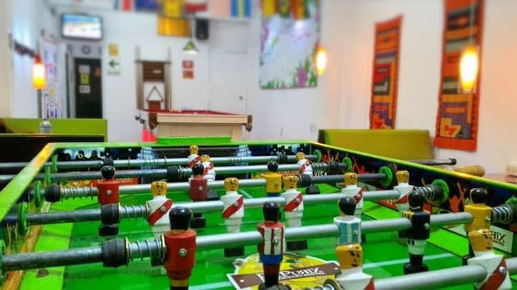 Foosball at Pay Purix hostal near Lima Airport