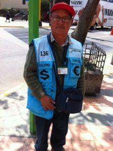 Money changer in Lima