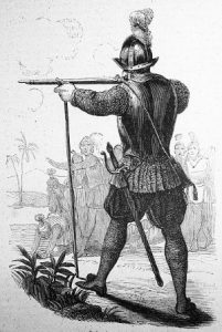 Pedro de Candia, conquistador gunner