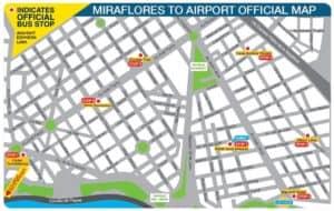 Map Miraflores - Airport Express Lima