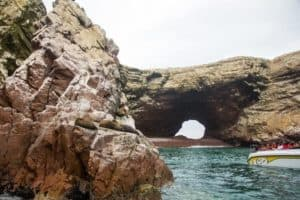 paracas travellers guide - water level view of islas ballestas
