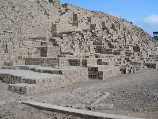 Huaca Pucllana ancient pre-Columbian and pre-Incan ruins in Miraflores Lima Peru - what to do in Miralores