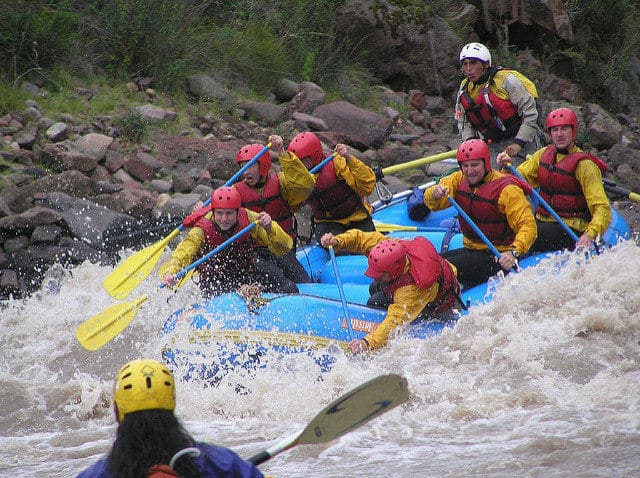 Whitewater Rafting in Peru on the inca jungle trek
