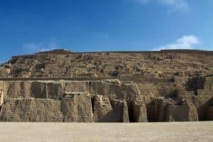 Huaca Pucllana Ruins in Miraflores Lima Peru