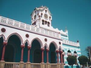 Plaza de Armas in Pisco Peru Moorish Municipal Town Hall Building