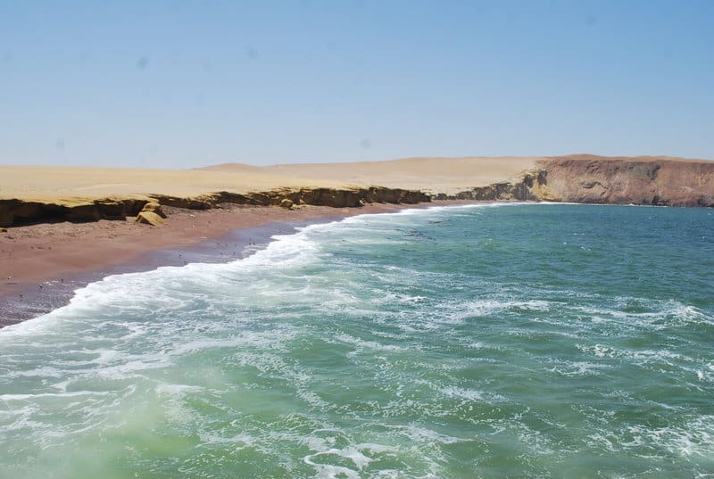 Paracas National Reserve Playa Roja Red Beach Pisco Peru