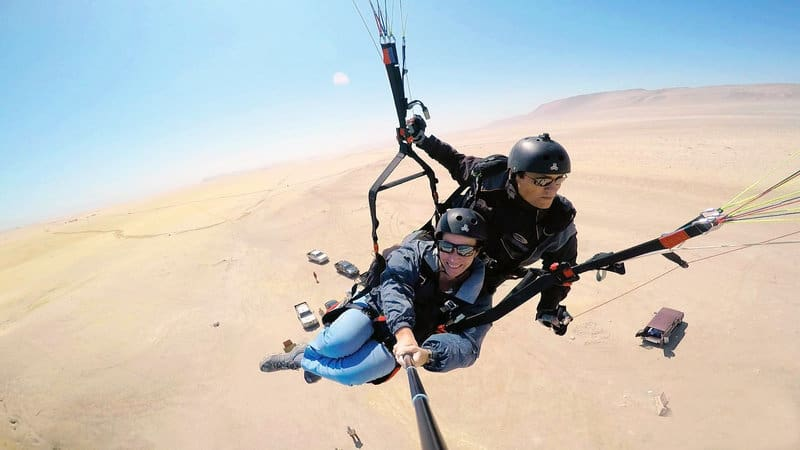 Paragliding in Paracas Pisco Peru
