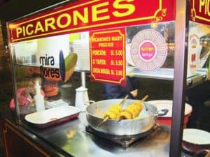 Street Food Picarones in Parque Kennedy Miraflores Lima Peru