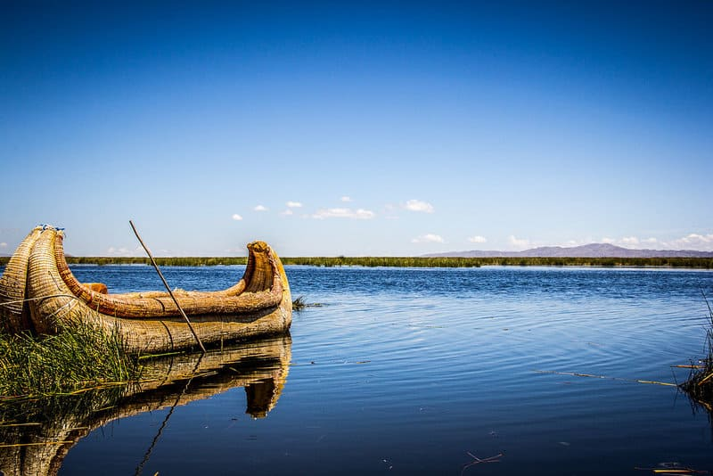 Totora Reed Boat on Lake Titicaca