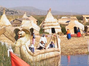 Uros Floating Islands Made From Totora Reed