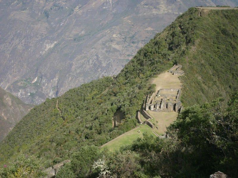 Aerial image of Choquequirao in the cusco region, Machu Picchu alternative