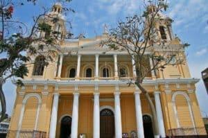 Chiclayo main square heroic city Northern Peru