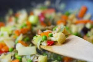 vegetable salad suitable for vegan ceviche loving hut