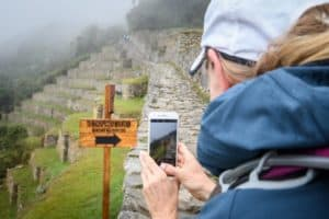 Cell Phone Taking Picture at Machu Picchu