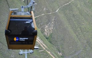 The new Cable Car system in Kuelap.